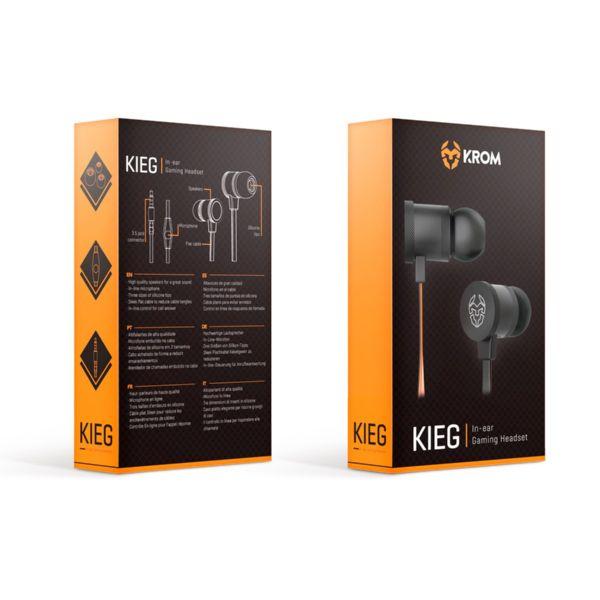 Auriculares IN-EAR Cable KROM KIEG con Micro