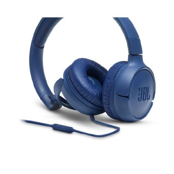 Cascos con Cable JBL-TUNE500 color Azul con Micro