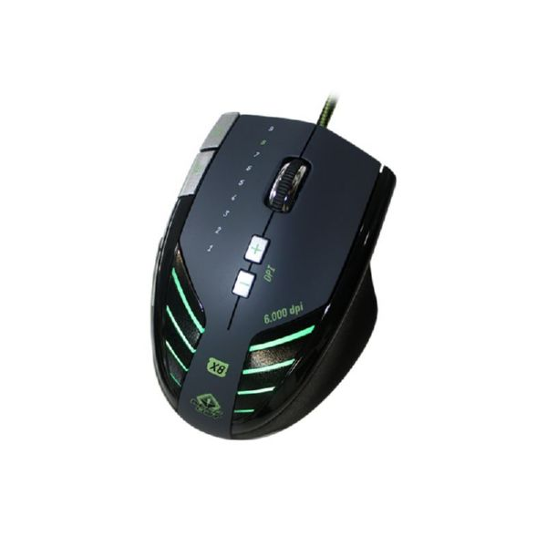 Raton Gaming Keep Out X8 con Cable 6 botones y 800 a 6000dpi