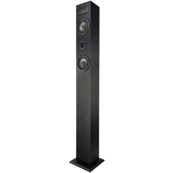 Torre Sonido Brigmton BTW20 2.0 Negra 20W FM Bluetooth USB MicroSD E.Linea Mando a Distancia 11.3x10x100 cm